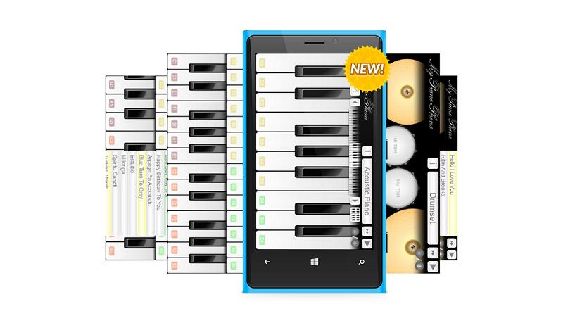 My Piano Phone برنامه محبوب نواختن پیانو برای گوشی و تبلت ویندوز شما!
