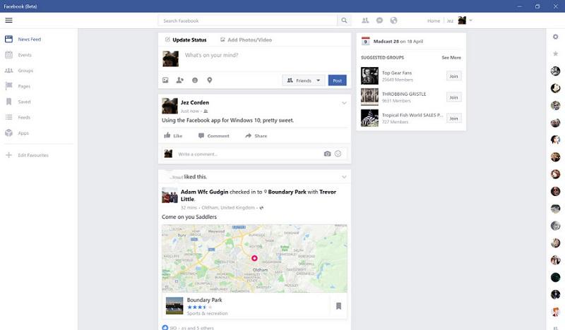 نسخه آزمایشی اپلیکیشن Facebook برای کاربران ویندوز ۱۰ منتشر شد.