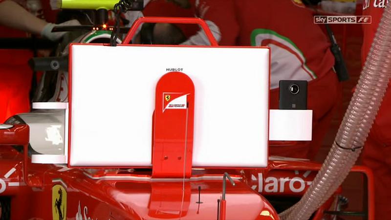استفاده تیم Ferrari F1 از Lumia 950 XL در مسابقات Grand Prix