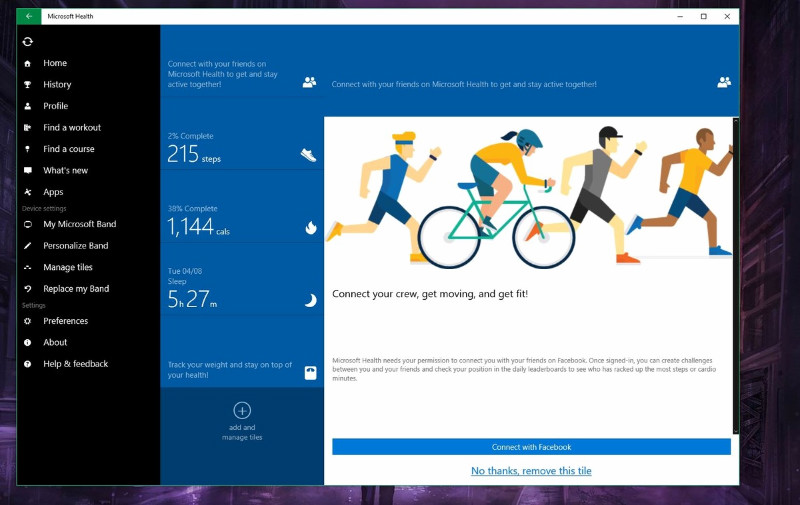 Microsoft Health به صورت یونیورسال برای ویندوز ۱۰ PC منتشر شد.
