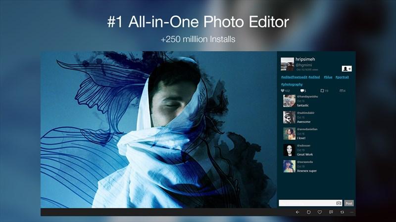 برنامه ویرایش عکس رایگان PicsArt به صورت یونیورسال برای ویندوز ۱۰