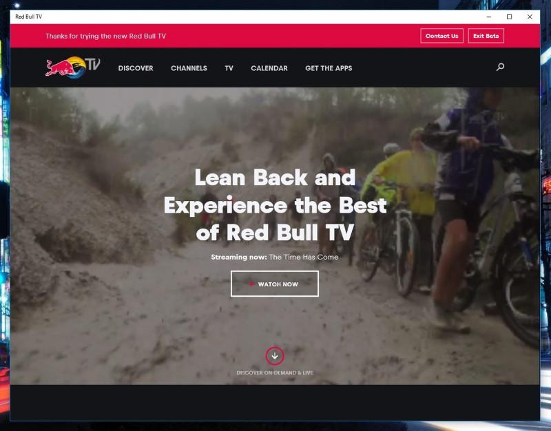 Red Bull TV به صورت یونیورسال برای ویندوز ۱۰ موبایل و پی سی منتشر شد.