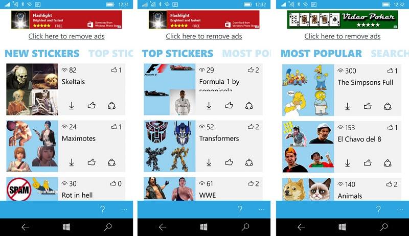 دانلود استیکر تلگرام با Stickers for Telegram در ویندوز ۱۰ موبایل و پی سی