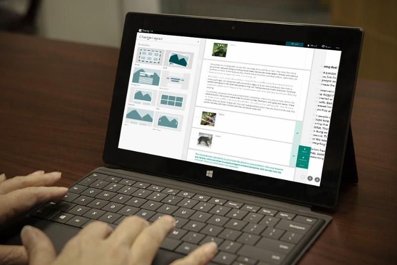 بهترین اپلیکیشن برای ارایه مطالب: Microsoft Sway