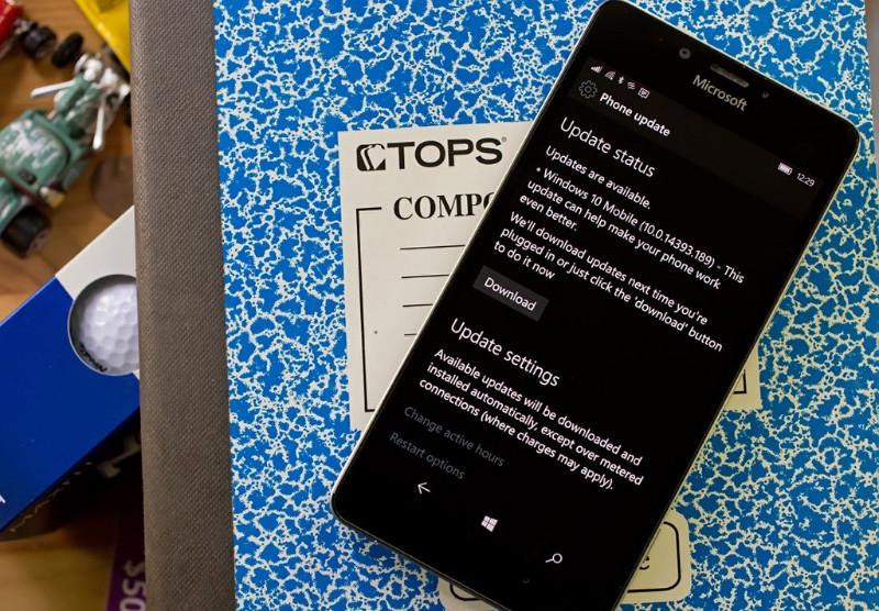 آپدیت ویندوز ۱۰ موبایل با نسخه ۱۴۳۹۳٫۱۸۹ منتشر شد.