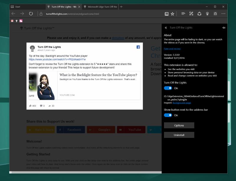 افزونه Turn Off The Lights برای Microsoft Edge منتشر شد.