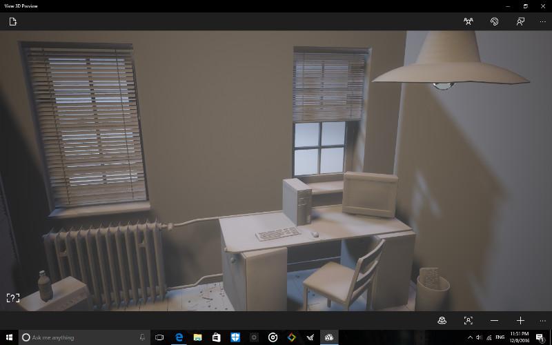 اپلیکیشن View 3D Preview برای مشاهده ی فایل های سه بعدی