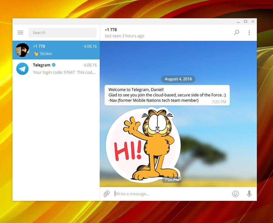 نسخه جدید تلگرام با رابط کاربری زیبا برای ویندوز ۱۰ PC