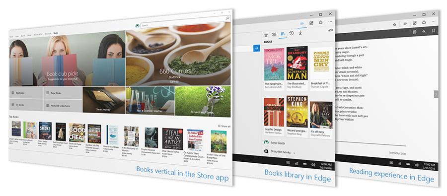 کتابخانه ای پر از کتاب در استور Windows 10 Creators