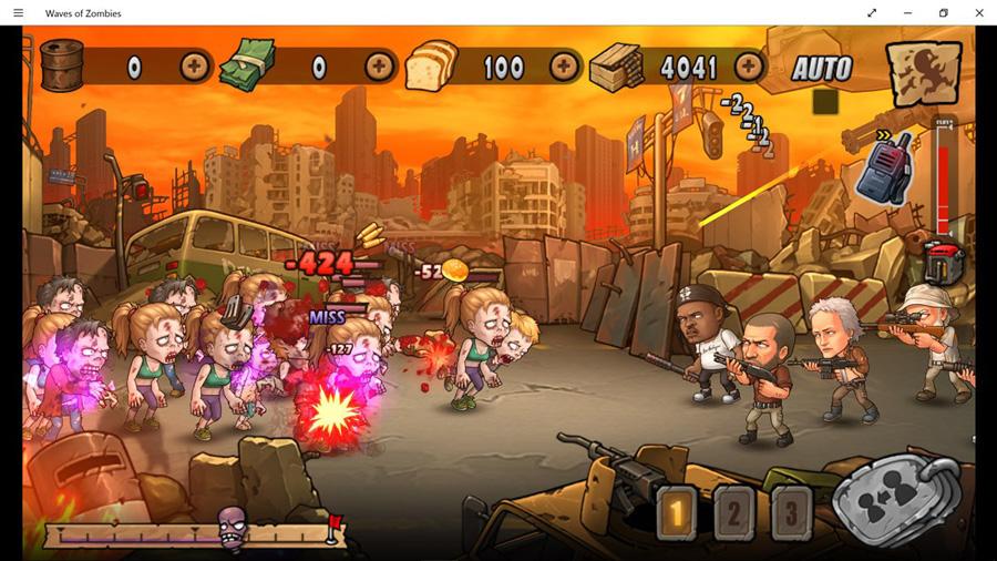 بازی جذاب Waves of Zombies برای ویندوز ۱۰ موبایل و PC
