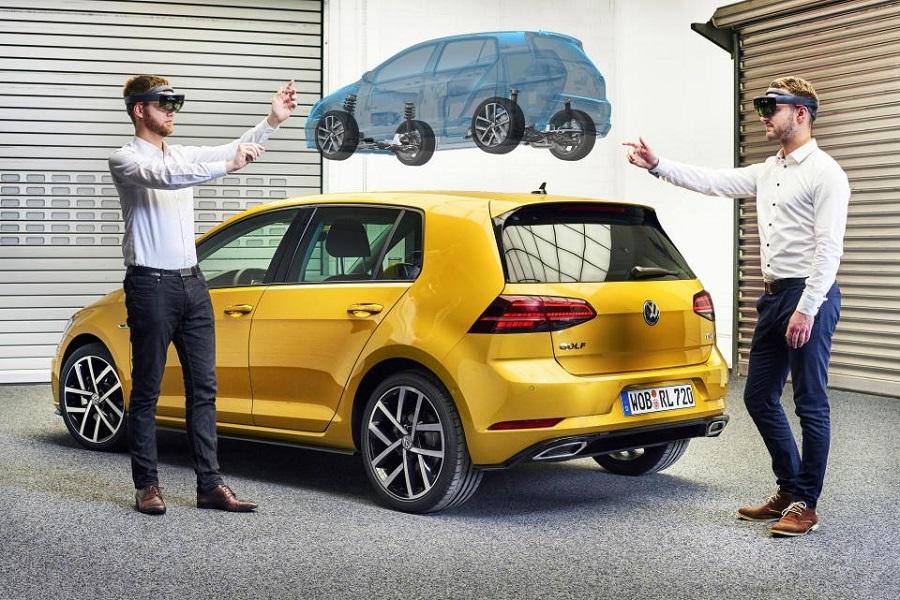 تیم طراحی کمپانی اتومبیل سازی Volkswagen از هولولنز بهره می برند!