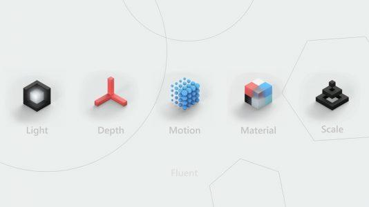 Neon UI با نام رسمی Microsoft Fluent Design System در بیلد رونمایی شد.