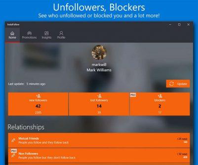 InstaFollow برای دانلود تصاویر اینستاگرام و اطلاع از Unfollower ها