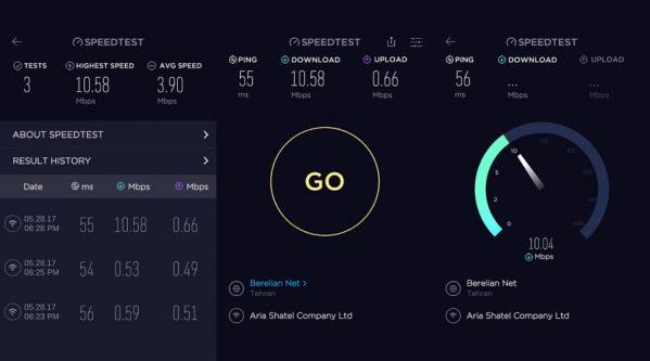 اپلیکیشن کنترل سرعت اینترنت Ookla برای ویندوز ۱۰ موبایل و کامپیوتر
