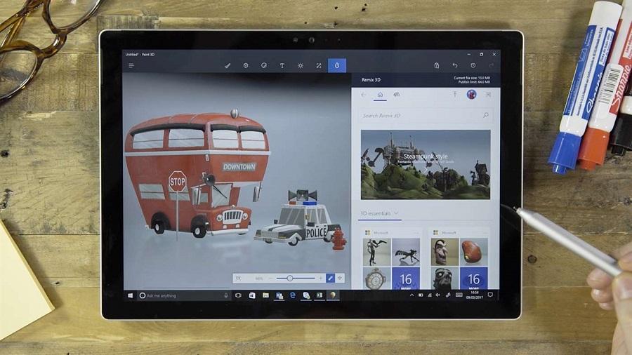 قابلیت بی نظیر و جادویی Magic Select در برنامه Paint 3D را حتما تجربه کنید. (ویدیو)
