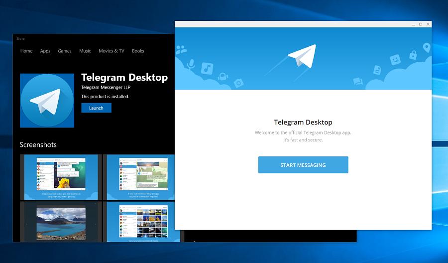 دانلود Telegram Desktop نسخه ۱٫۱٫۱۵ برای کاربران ویندوز ۱۰ از استور