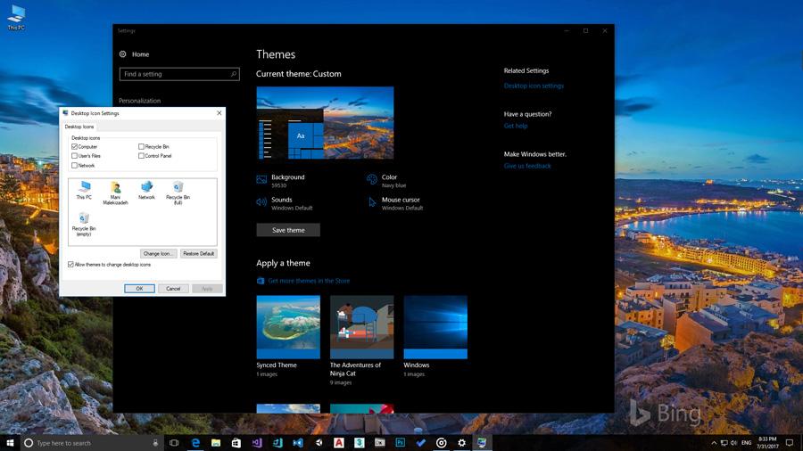 آموزش ویدیویی قرار دادن آیکن My Computer (This PC) بروی دسکتاپ در ویندوز ۱۰