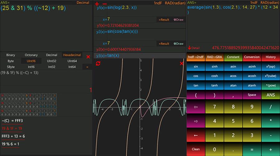 اپلیکیشن ماشین حساب مهندسی Palm Calculator برای ویندوز ۱۰ موبایل