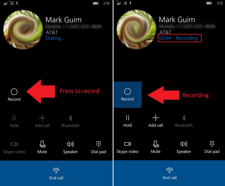 فعال سازی قابلیت ضبط مکالمات در ویندوز ۱۰ موبایل (در صورت پشتیبانی)
