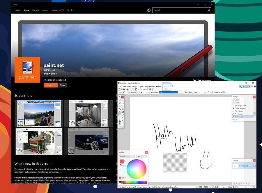 اپلیکیشن محبوب Paint.Net به صورت رسمی وارد استور مایکروسافت شده است.