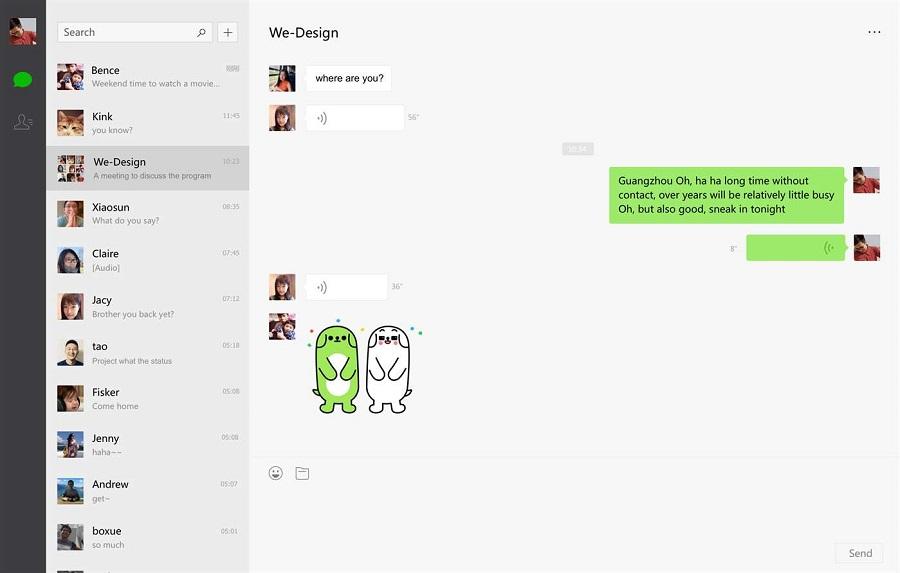 نسخه یونیورسال اپلیکیشن محبوب WeChat UWP برای موبایل، تبلت و کامپیوتر