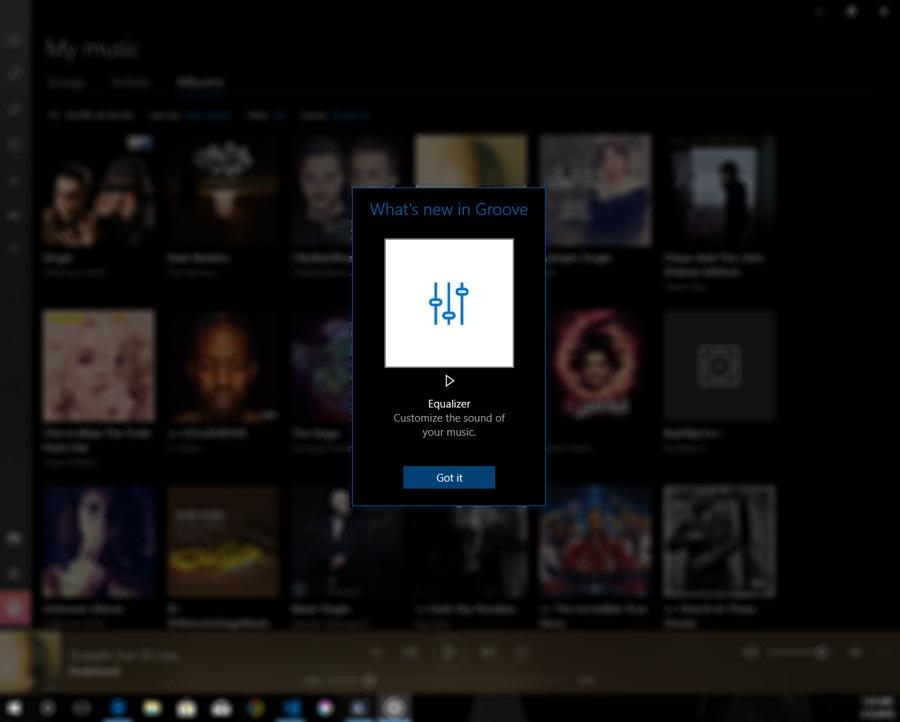 نسخه جدید بهترین برنامه پخش موزیک Groove Music با قابلیت اکولایزر منتشر شد.