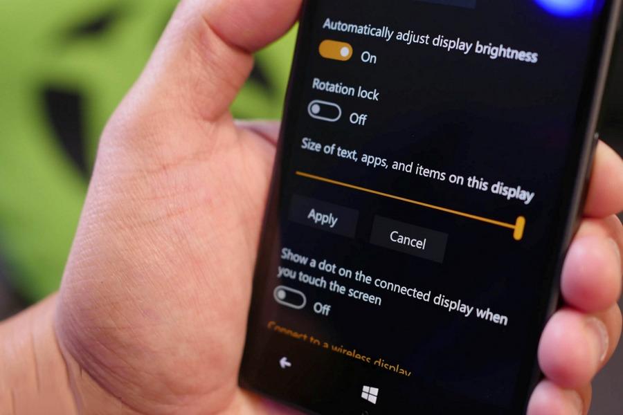 آموزش افزایش سایز نوشته ها در ویندوز ۱۰ موبایل به صورت گام به گام