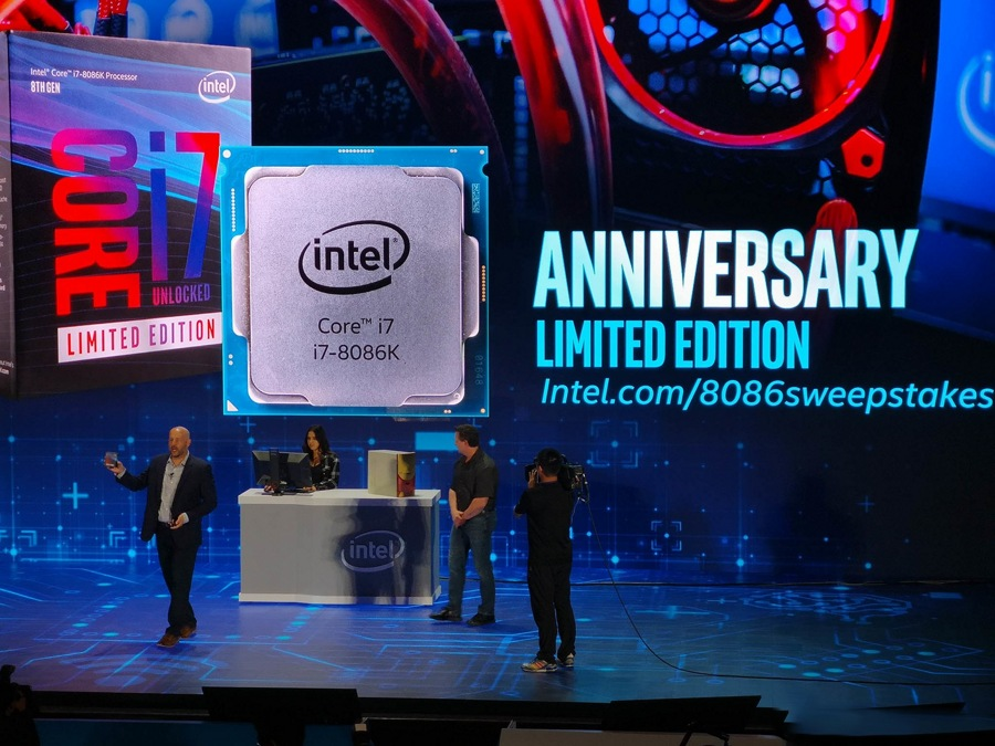پردازنده ۵ گیگا هرتزی واقعیت دارد، رونمایی اینتل از CPU intel Core i7 8086K