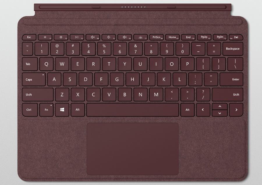 کیبورد جدید Surface Go از نوع Signature Type Cover با ۱ میلیمتر Key-travel