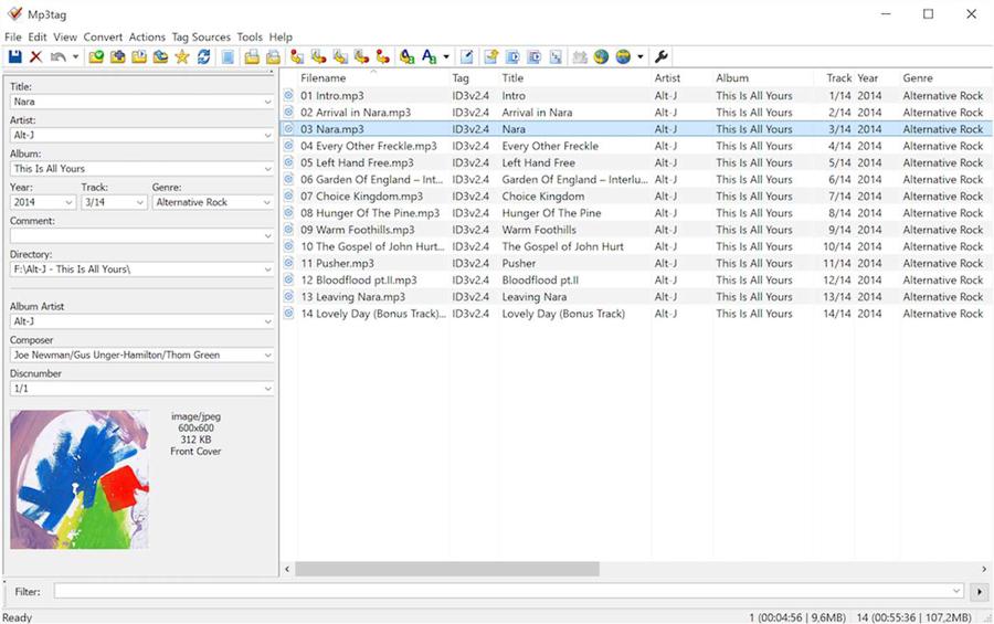 Mp3tag برنامه ای برای مدیریت متا تگ ها و اطلاعات آهنگ ها به صورت حرفه ای
