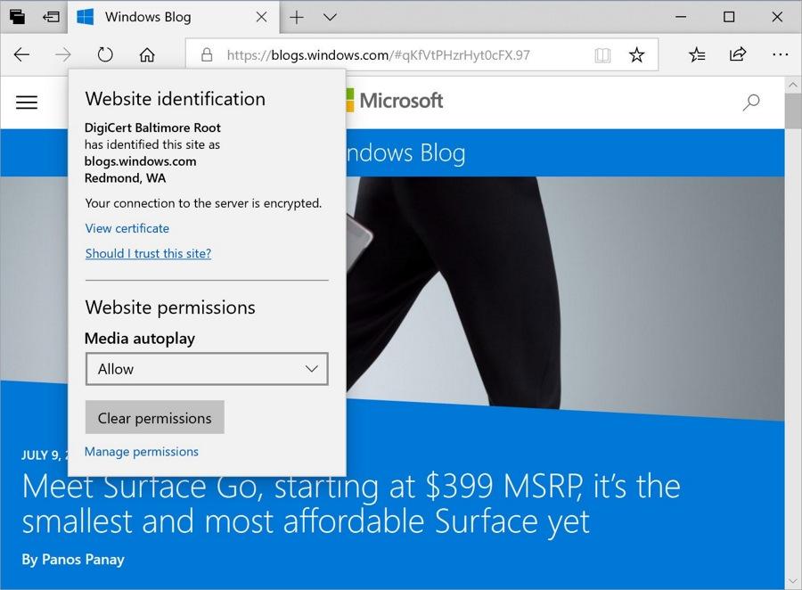 Microsoft Edge در آپدیت اکتبر ۲۰۱۸ ویندوز ۱۰ با نام ۱۸۰۹ فوق العاده شده!