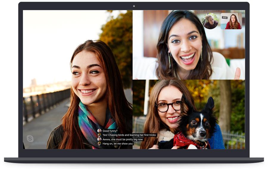 نسخه جدید Skype با امکان تماس تصویری ۵۰ نفر همزمان در دسترس است.