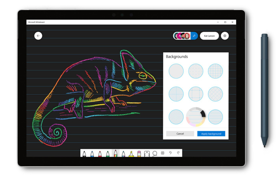 مایکروسافت وایت برد (Microsoft Whiteboard) با قابلیت های جدید بروزرسانی شد.