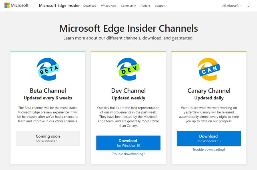 مرورگر Microsoft Edge Dev با موتور جدید Chromium آماده دانلود شد.
