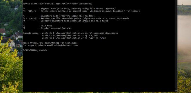 ریکاوری و بازیابی فایل های پاک شده به کمک Windows File Recovery