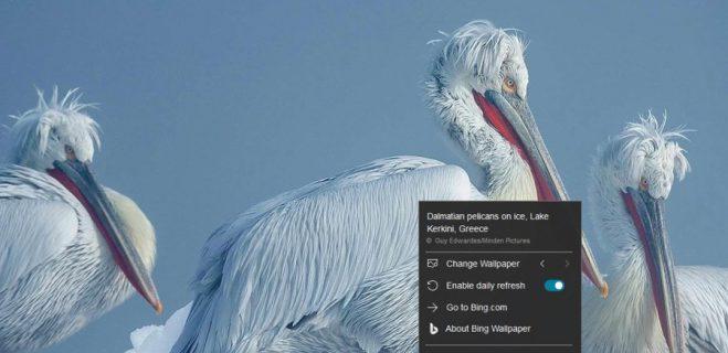 اپلیکیشن محبوب Bing Wallpaper وارد استور مایکروسافت شد.