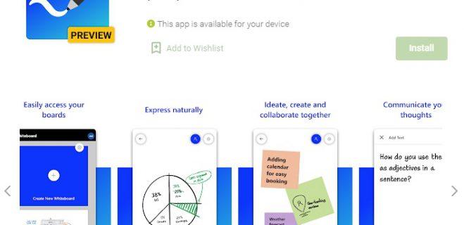 اپلیکیشن تخته وایت برد مایکروسافت برای اندروید هم منتشر شد.